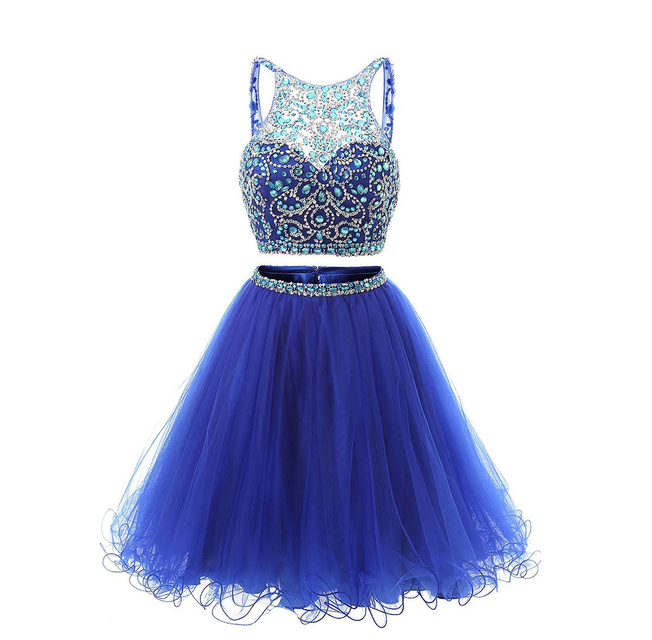 Blue Sparkly Homecoming Dresses